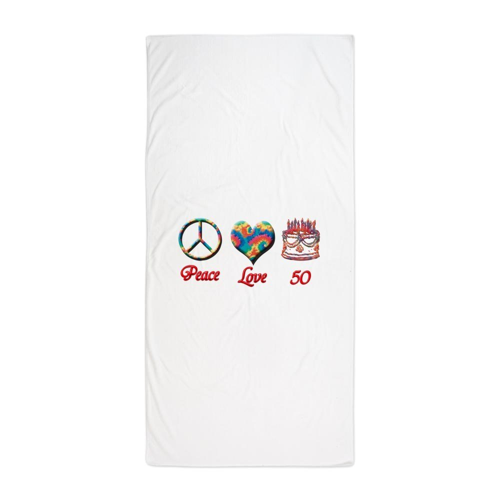 """CafePress - 50Th. Birthday - Large Beach Towel, Soft 30""""x60"""" Towel with Unique Design"""