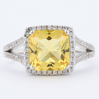 Price white gold yellow sapphire rings jewelry women 925 sterling silver