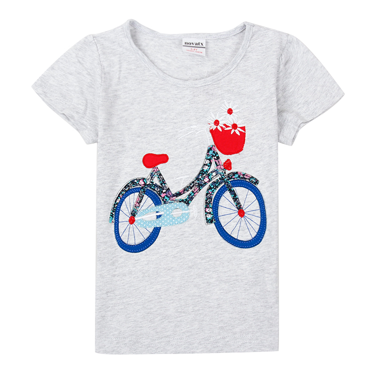 summer style girls clothing children t shirts printed cartoon girls t-shirts casual kids clothes cotton t shirts for girls K6298