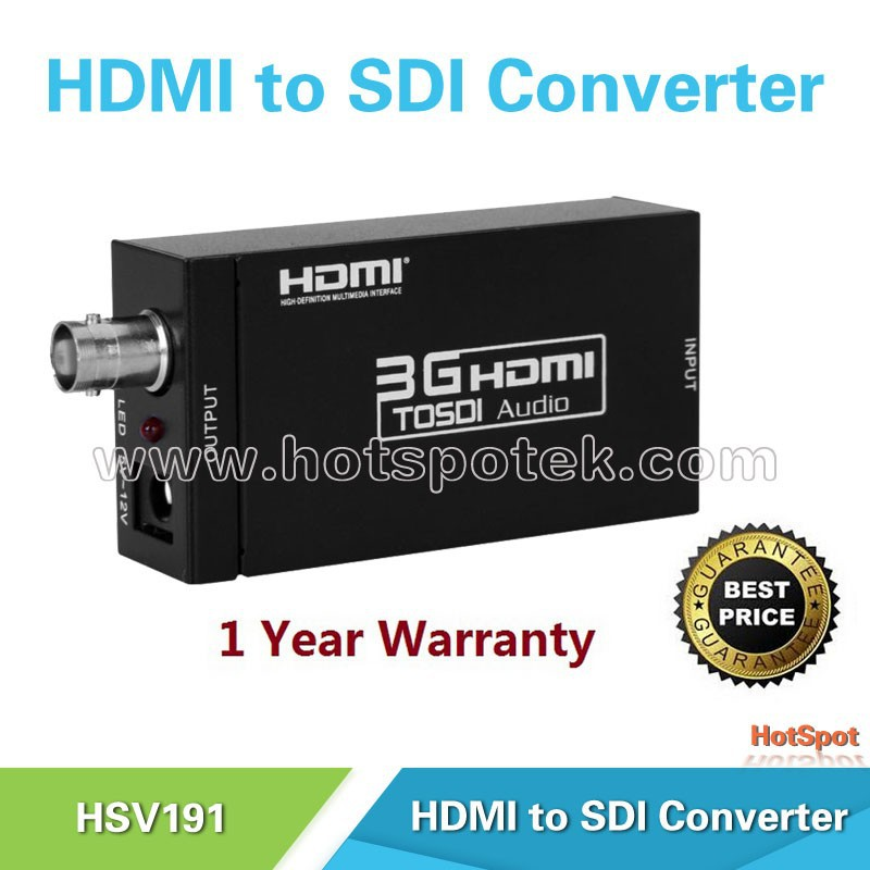 Audio Video HDMI/VGA/AV to BNC SDI Converter Support All Type SDI Resolution/HDMI TO SDI Converter