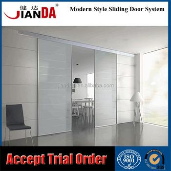 Interior Partition Semi Automatic Aluminum Door System For Glass
