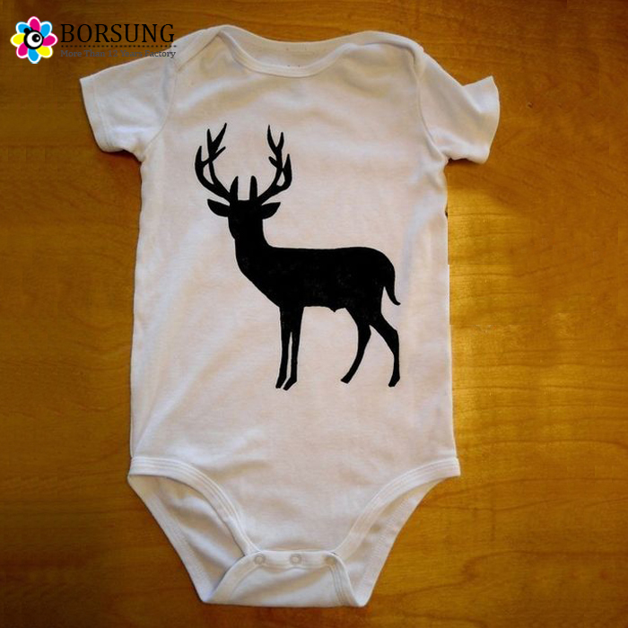 Christmas Baby Frocks Designs Cotton Baby Onesie Christmas Deer Printing Baby Clothes Romper