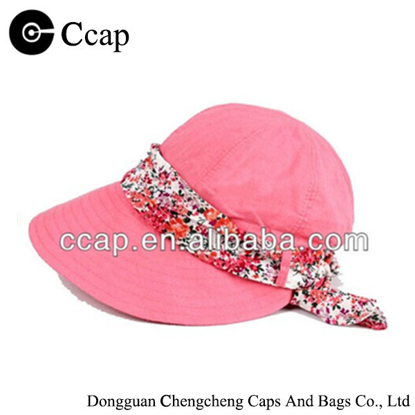 2016 custom cotton plain sun visor cap