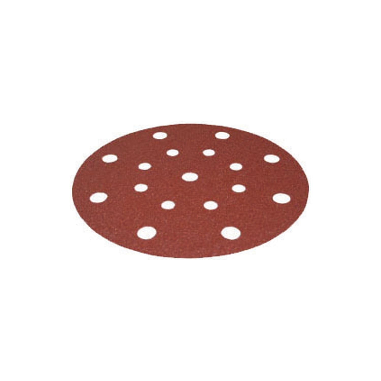 """Festool 499119 6"""" P80 Grit Rubin 2 Abrasives for RO 150/ETS 150 Sander, 50-Pack"""