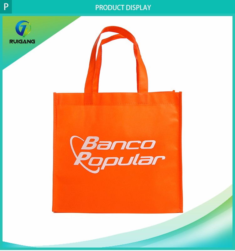 Portable cheap printed fabric shopping bags