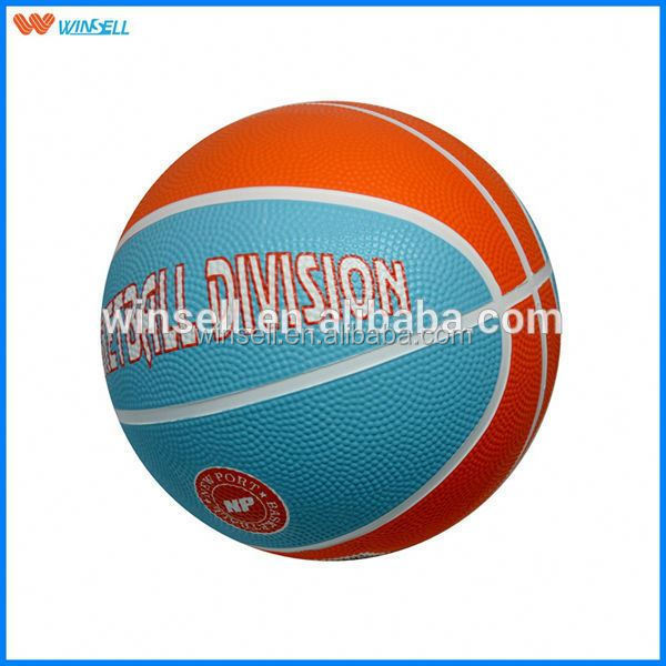 High quality indoor custom logo rubber basketball ball