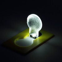 Portable LED Card Pocket Light bulb Lamp Wallet Light Put In Purse Wallet Emergency Light