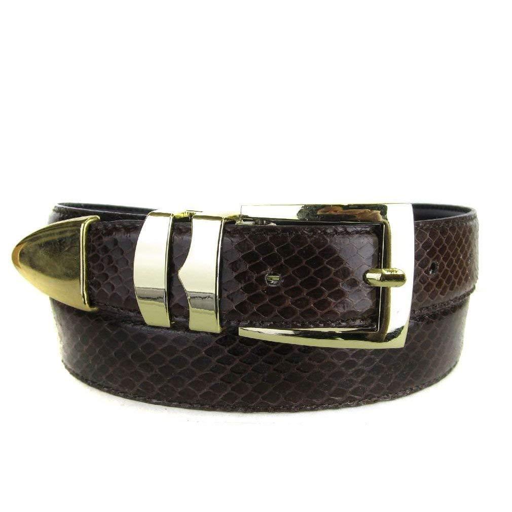 Chocolate Snake Skin High Quality Fashion Dress Belt