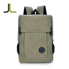 Simple design daypack plain blank canvas laptop backpack