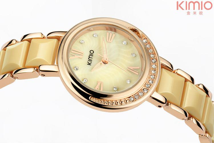 Kimio марка керамическая часы высококлассные мода свободного покроя часы женщины высокое качество Laides платье часы кристалл кварцевые наручные часы