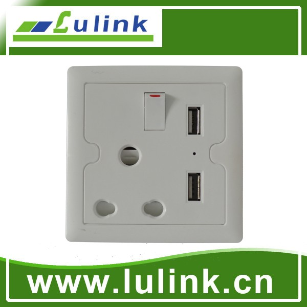 Hot sell Universal switch socket with USB port