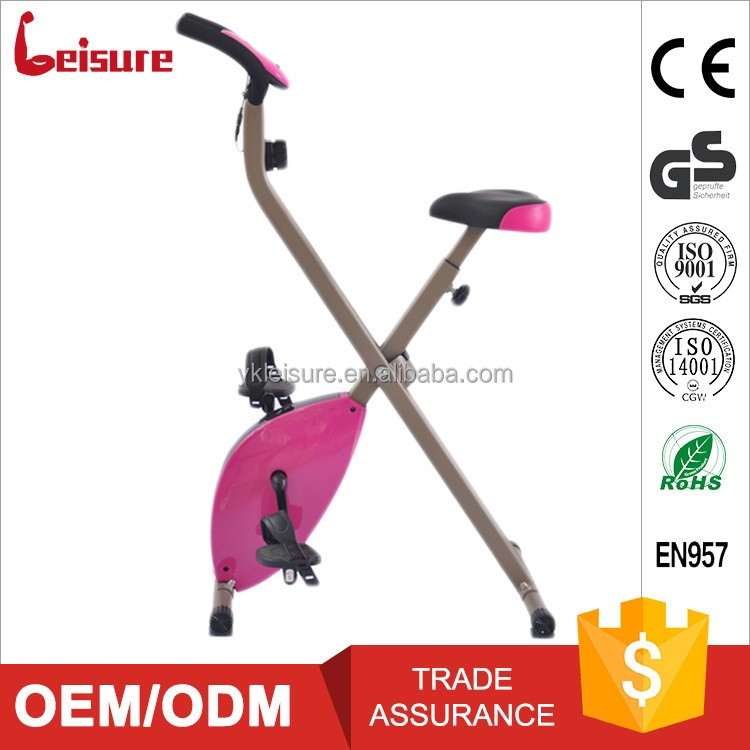 Leisure magnetic smart folding bike stationary cycle