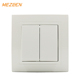 ABS frame silver alloy material 2 gang 2 way touch switch eu 10a 220v