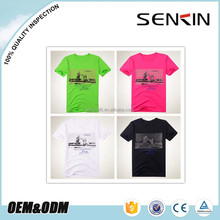 New Fashion 100% Combed Cotton Silk Screen Printed T shirt With Lable From Guangzhou Factory