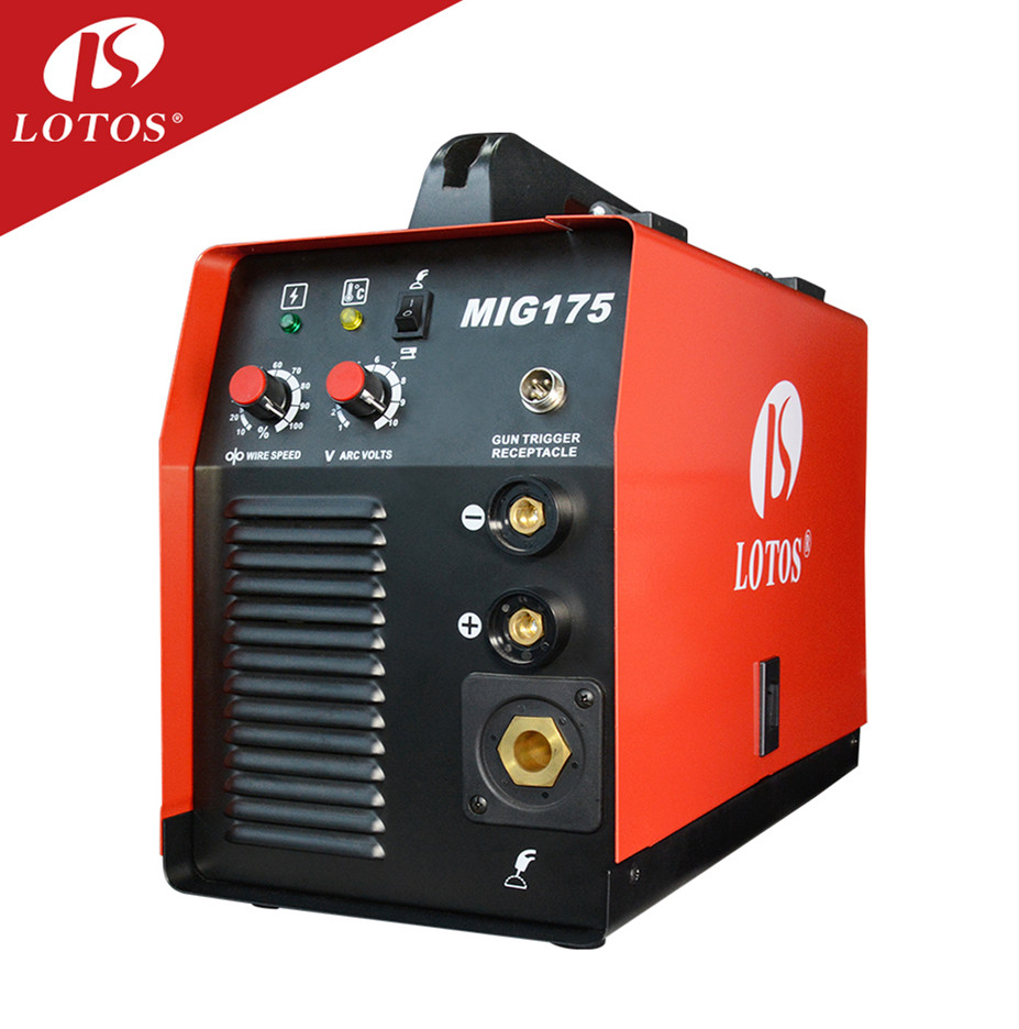 Lotos MIG175 factory price machine aluminum metal sheet <strong>welding</strong> 175 amp co2 mig mma welder combo for home hobby