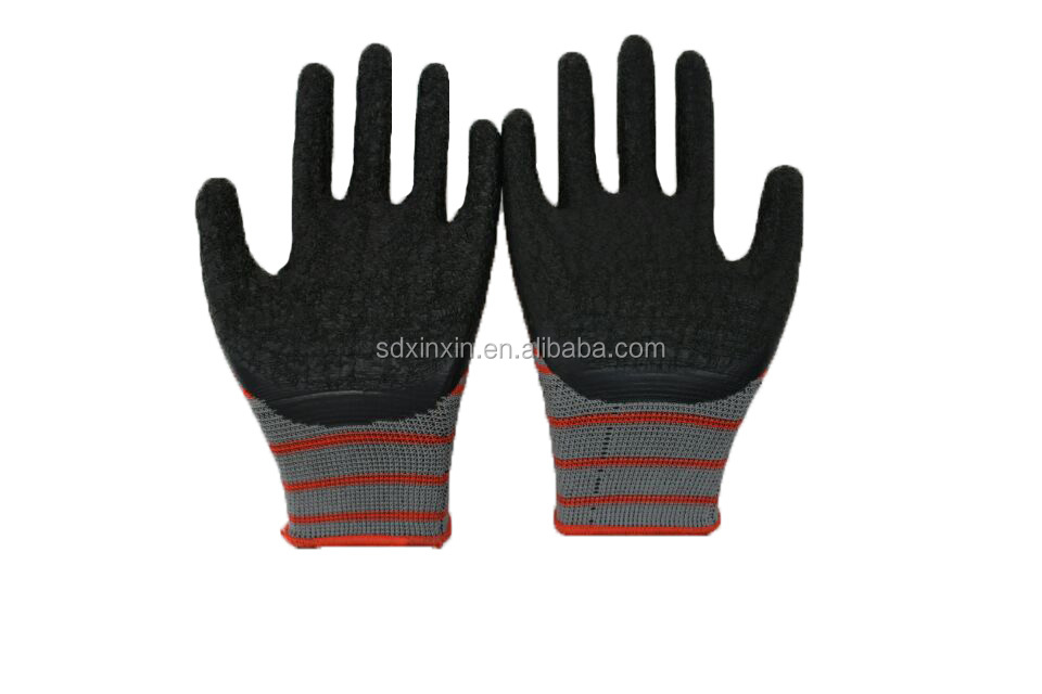reinforced wear cut resistant oil proof insulating labor safety protection latex gloves heat resistant