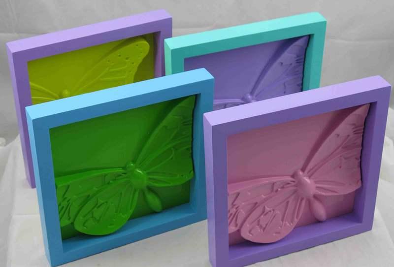 decorativos decoración de mariposas doble marco conjunto de ...