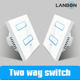 Lanbon smart home 2 way mutual control wifi smart light switch with 2 years warranty