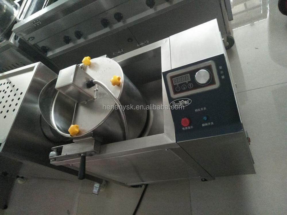 Fully Automatic Gas Popcorn Machine Large Spherical Popcorn Machine Electric Stirring With Battery
