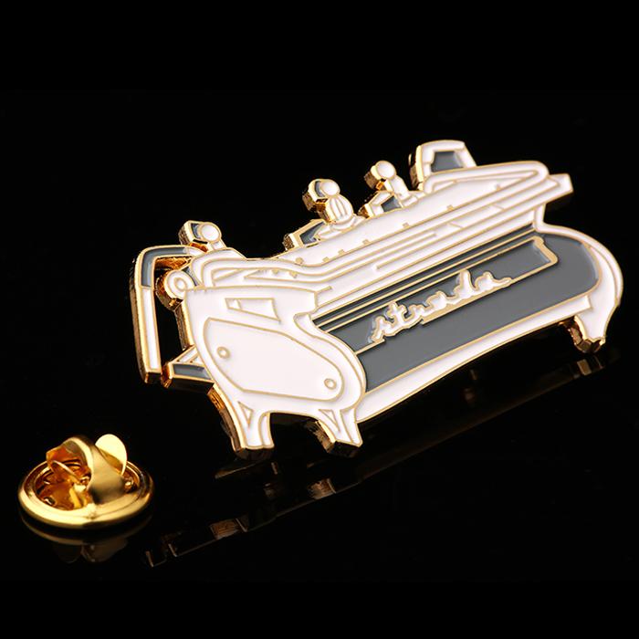Alfinete de lapela personalizado fabricantes China, logotipo gravado Alfinete de lapela