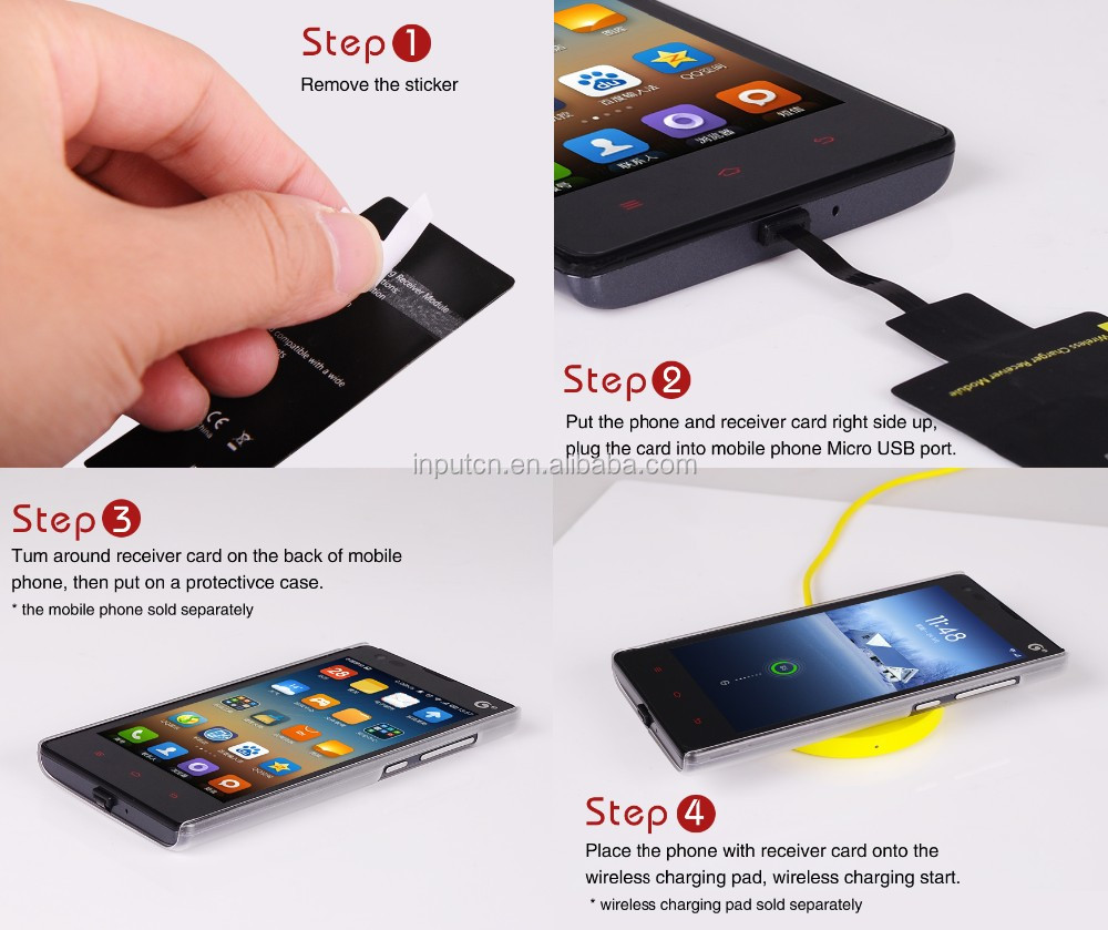 low priced d945d ce729 2018 Promotional Type-c Wireless Qi Charger Receiver For Iphone For ...
