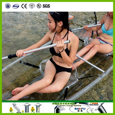 Transparent Bottom Kayak,double fishing boat, PC rowing canoe