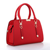 shenzhen sourcing agent Solid color leather women shoulder chain bag for yong girl,ladies handbag 2017 fashion(SWTJU17095)