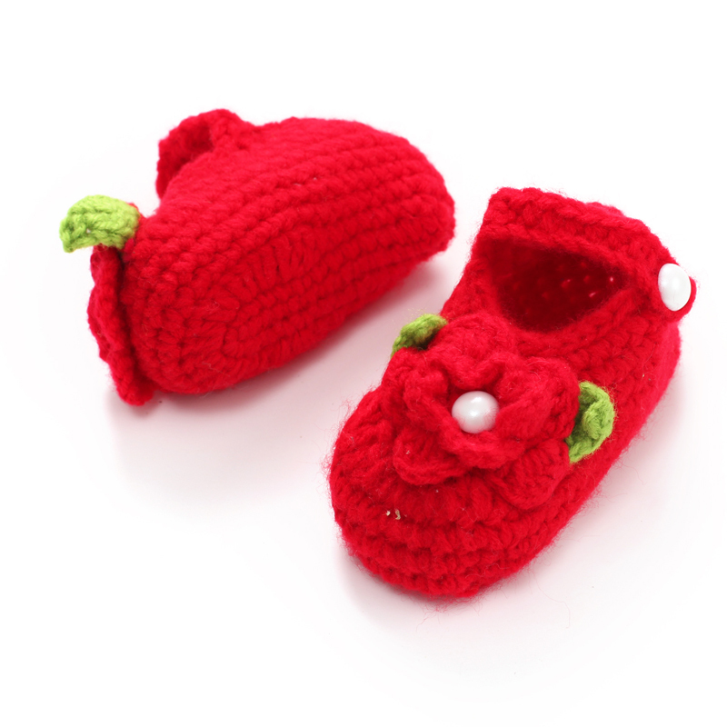 Baby Shoes Shop For Cheap Handmade Baby Girls Crochet Flower Shoes Princess Toddler Infant Girl Shoes Newborn Spring Autumn Crib Shoes Chaussure Bebes