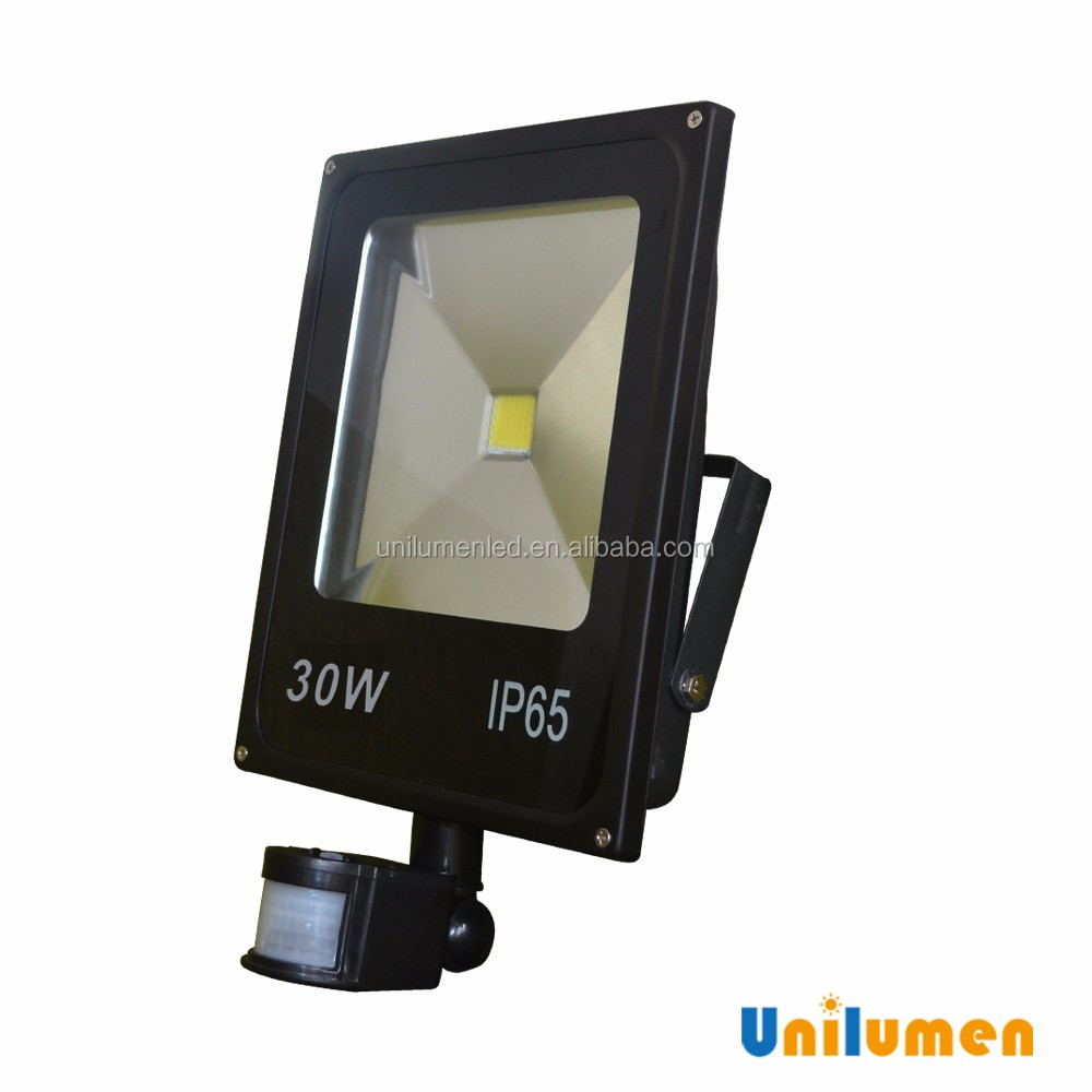 Led Flood Light with pir motion/microwave sensor ip65 30w security led flood lights