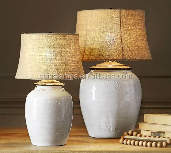 Porcelain Table Lamp Lighting In White/black/gray-green For Hotel ...