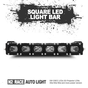 Guangzhou N2 RACE AUTO factory wholesale 10'' single row IP68 front bumper mount led lightbar 90w spot light