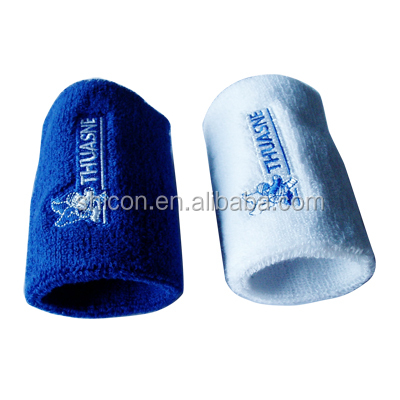 embroidery cotton sweatbands/cotton wrist sweatband