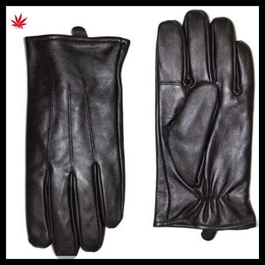 Mens leather gloves leather touch fashion touchscreen gloves