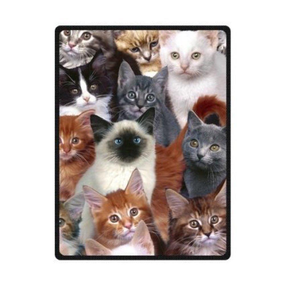 Creative Blanket Comfortable Cats Sofe Bed/Sofa Fleece Blanket Sheet Throw Bedding Blanket Sofe Bed/Sofa Fleece Throw Blanket Baby Blanket Travel Blanket Indoor / Outdoor 58 Inch x 80 Inch Large
