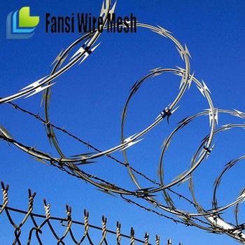 Razor Barbed Military Wire Mesh Fence/razor Wire Guangzhou /hs Code ...