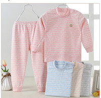 China Factory Cheap Wholesale 100% Combing colored cotton Autumn Winter baby clothes sets 2pcs underwear