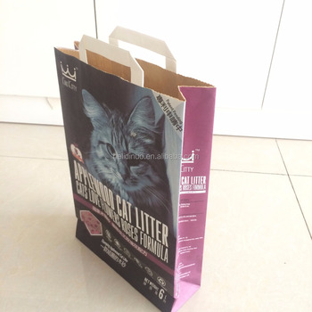 1-3ply Kraft Paper Bag for Pets Food with Customized Logo Pattern Printed