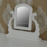 factory price designed simple fashion natural Wood desktop mirror