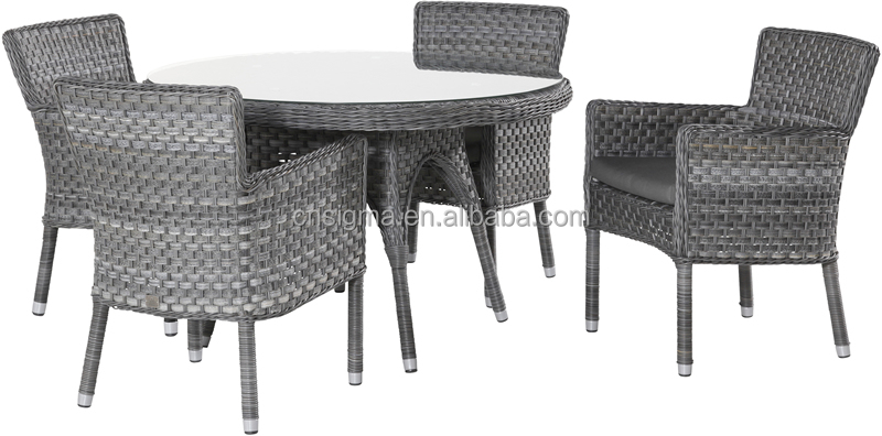2017 Sigma all weather small resin wicker glass top center table