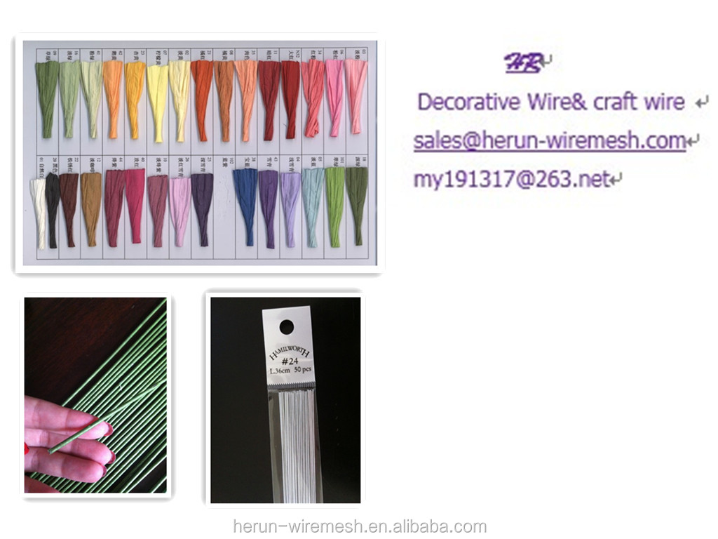 Paper covered craft wire - Hr 26ga0 45mm Length Decorative For Cake Paper Covered Craft Wire
