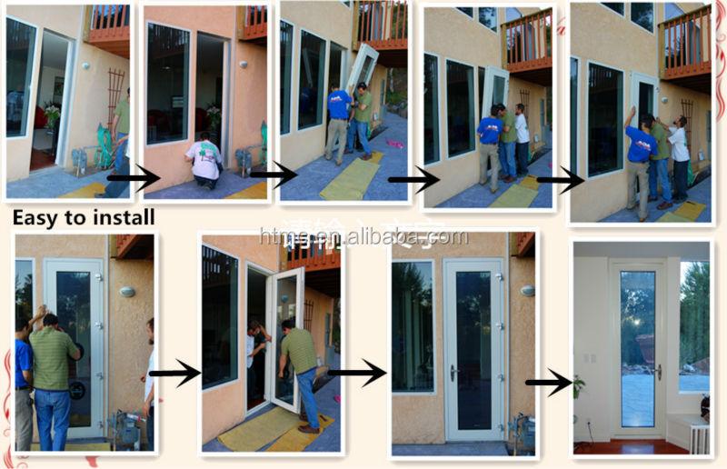Factory Custom Aluminum Frame Double Tempered Glass Folding Door ...