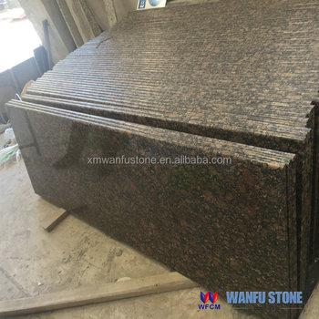 2+2cm Laminated Edge Kitchen Baltic Brown Granite Countertop