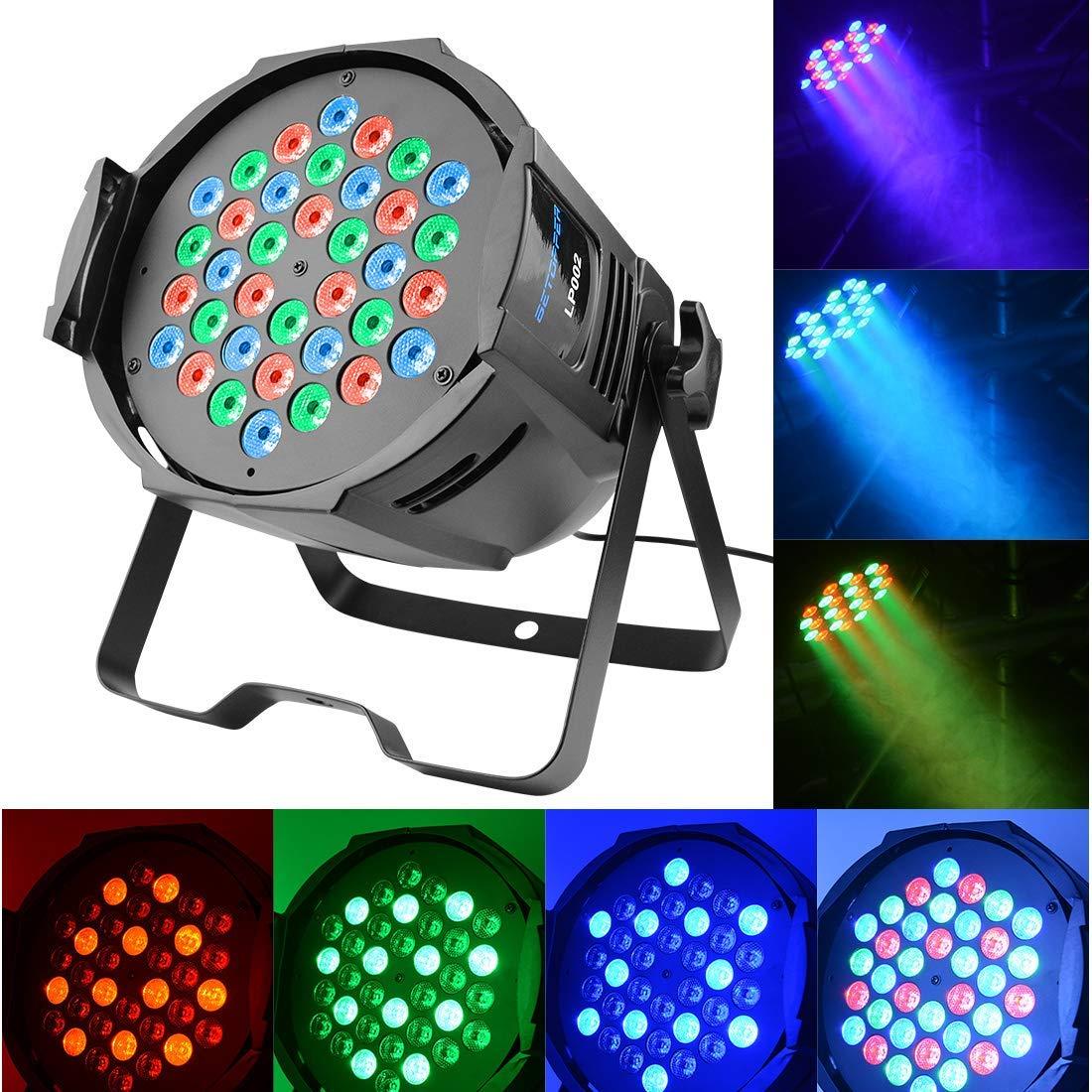 BETOPPER Par LED 36 3W RGB DJ Stage Light Wash Light Professional DMX512 Stage Music Lighting for DJ Disco Party Lights