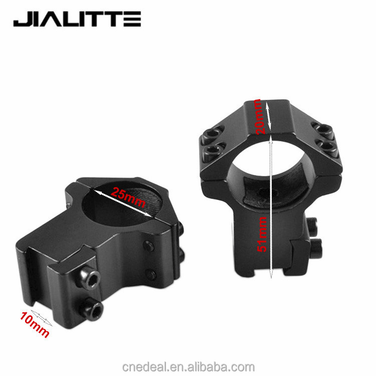 Jialitte 25.4mm High Rifle Scope Mounts Double Screw Strap 11mm Base Air Rifle Hunting Caza Base Install Scope Pistol J094