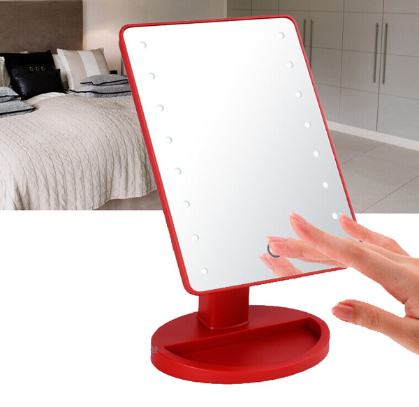 Touch Screen Battery Operated Cordless Led Lighted Vanity