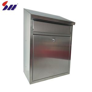 Factory price apartment building stainless steel modern waterproof wall mounted mailbox