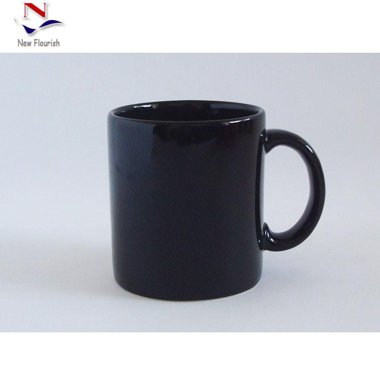 Plain Black Coffee Mug W0106