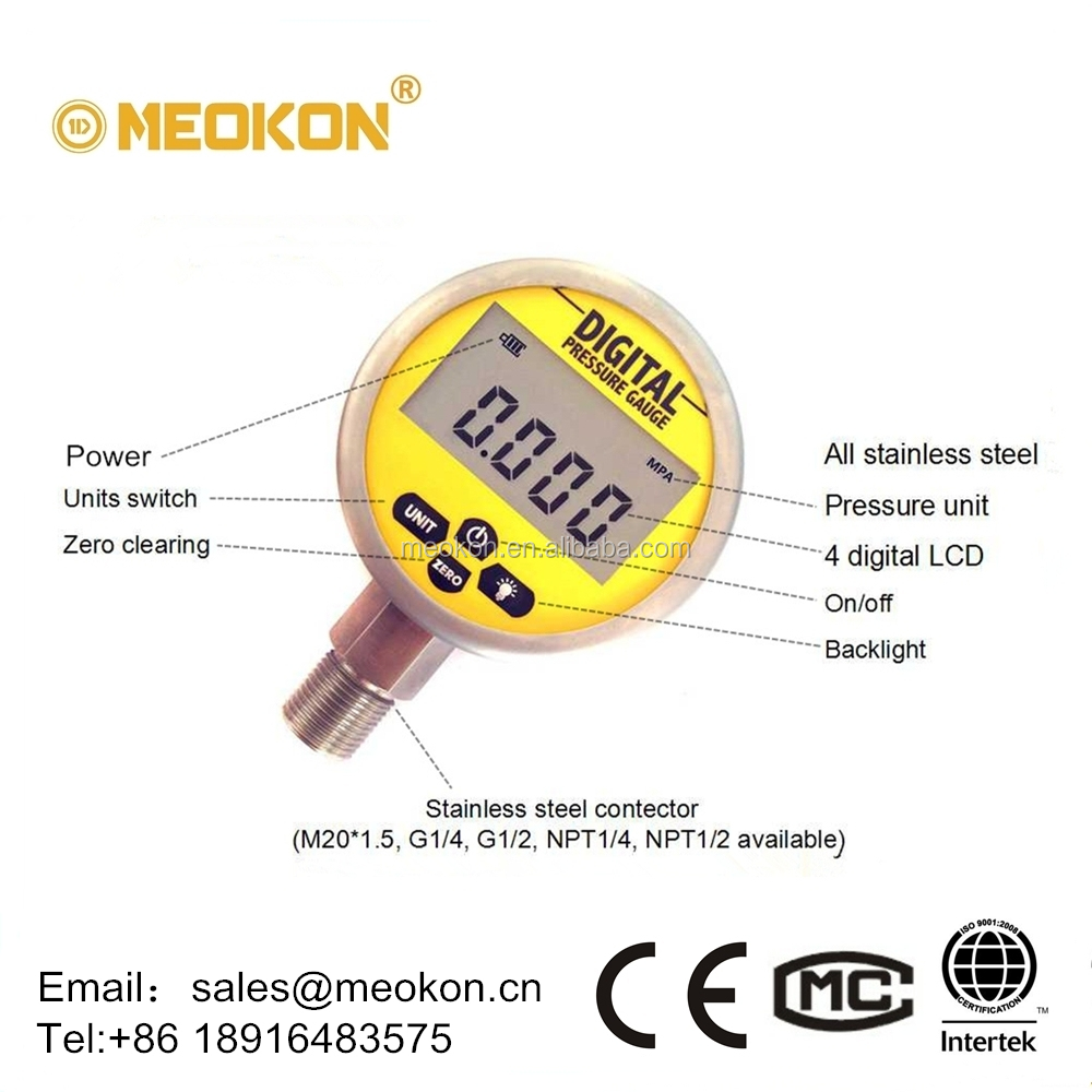 MD-S280F peak recording mbar psi pressure gauge pressure table