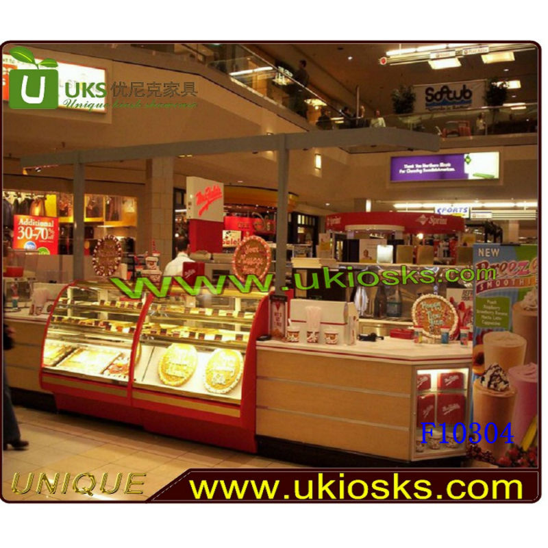 Unique donuts food mall kiosk, rmu food kiosk,fast food kiosk design