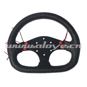 D style PU Sport Car Steering Wheel With 4 Buttons